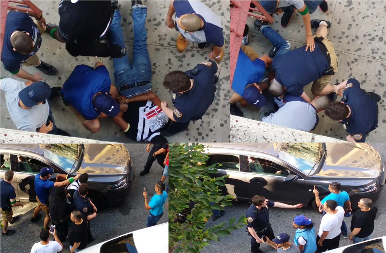 Brutalidad policial contra un dominicano