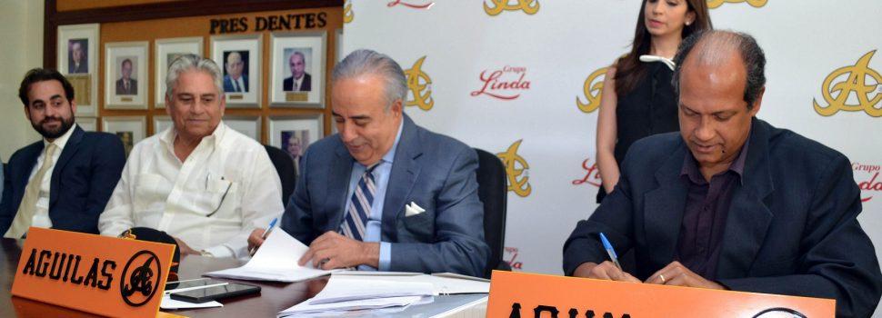 Oficializan firma comercialización de Águilas