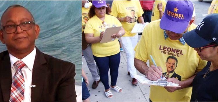 Colectan firmas a favor de Leonel Fernández