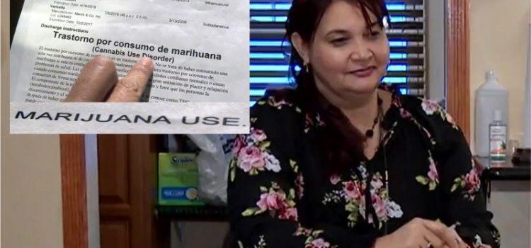 Mujer insiste que nunca ha fumado marihuana