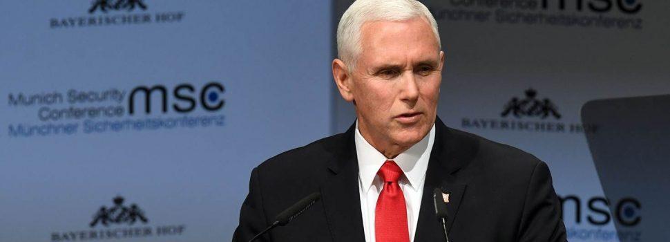 Vice EE.UU. pide a UE apoyo total para Guaidó