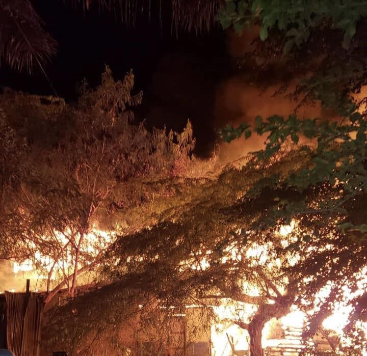Incendio provoca muerte de un hombre