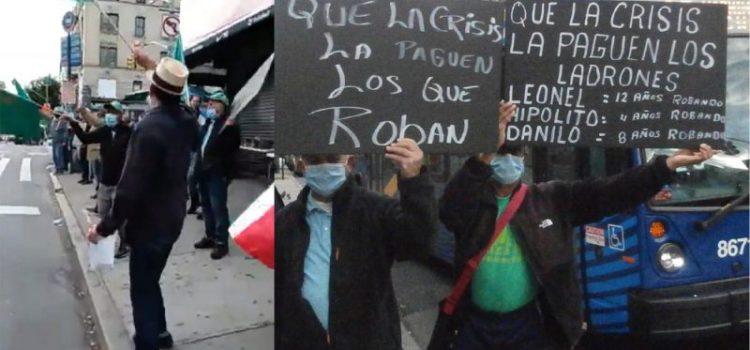 Dominicanos protestan por medidas fiscales