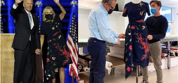 Vestido esposa de Biden lo diseñó Oscar de la Renta