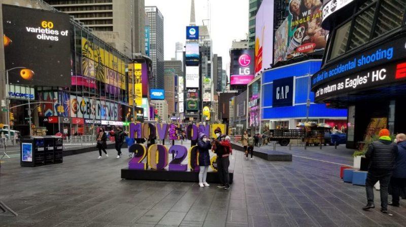 Ausencia prevista de personas en Times Square