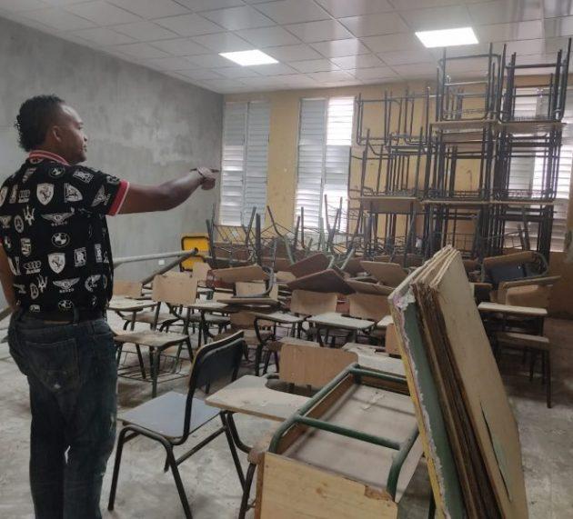 Piden que terminen de reparar una escuela para niños